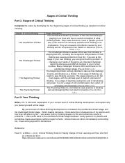 pages HUM     Appendix A  stages of critical thinking SlidePlayer