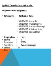 International Business - Group Assignments for Sem IV_arun