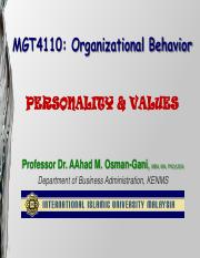Slides of Week# 5 Personality  Values.pdf