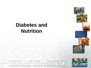 Diet and Diabetes Power Point