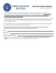 Educational Leadership Diversity Tracking Form