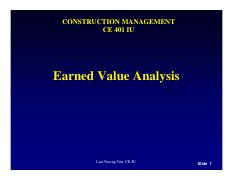 Chapter 15_EVM for project monitoring and controling