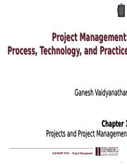 Lecture 1 - Projects and Project Management