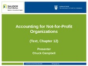 Accounting for Not-for-Profit Organizations(1)