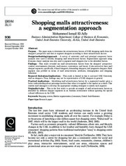 SHOPPING MALLS ATTRACTIVENESS