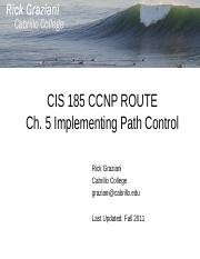 cis185-ROUTE-lecture5-ImplementingPathControl