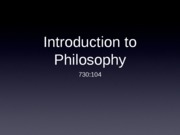 Intro to Philosophy Class 1 ppt