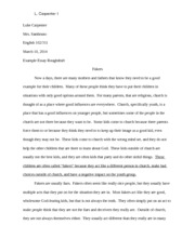 example essay ENG 102