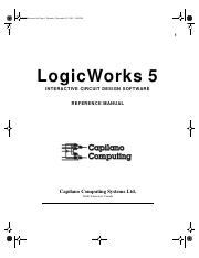 Logicworks 5 Reference Pdf Lw Reference Bk Page 1 Monday 5 59 Pm 1 Logicworks 5 Interactive Circuit Design Software Reference Manual Capilano Course Hero