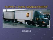 Sample Presentation on supply-chain