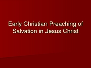 26_Early Christian Preaching