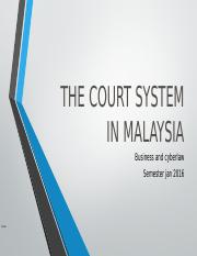 THE COURT SYSTEM IN MALAYSIA