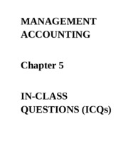 ICQs - Chapter 5 Questions