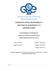 UEB - Social Corporate Responsibility - Adaption of Businesses to a growing trend (1)