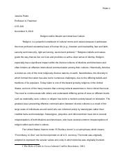 CST 229, peele, Religion in Muslim and American culture copy 2.docx
