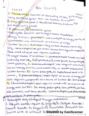 Notes on Prokaryotic modes of nutrition