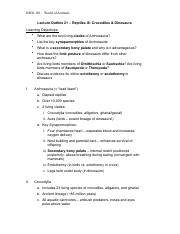 BIOL 101 Lecture 21 Outline - Reptiles III.pdf