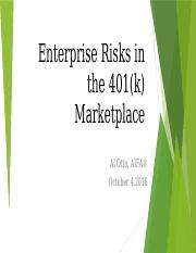 Enterprise Risks in the 401(k) Marketplace v20161004Final