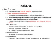 8.1 Interfaces