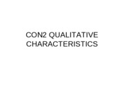 CON8.2 QUALITATIVE CHARATERISTICS