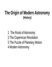 Chap 1 Origin of Modern Astro web