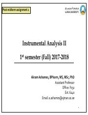 Instrumental analysis II post-midterm assignment 2(2).pdf