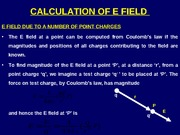 Calculation of Electric Field