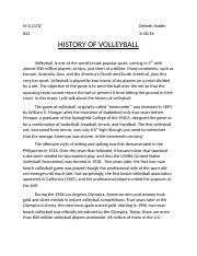 The History of Volleyball.docx