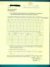 PHYS 1311 : General Physics Lab I - The University of Oklahoma -