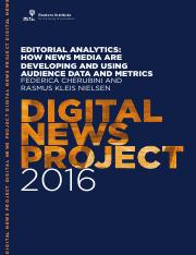 Reuters & Oxford_Editorial analytics - how news media are developing and using audience data and met