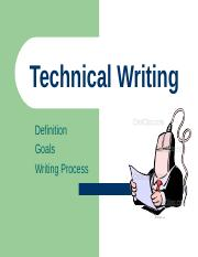 Set 3 Techincal Writing-DefGoalsProcess.ppt