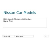 Nissan Car Models