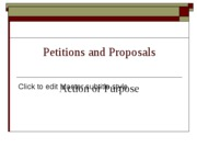 Petitions and Proposals