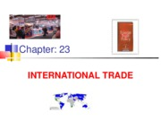 Chapter 23 International trade