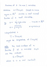 Functions of 3 variables