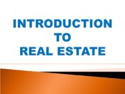 PPT INTRODUCTION TO REAL ESTATE