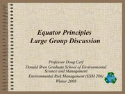 Equator Principles large group