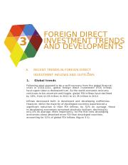 Foreign Direct Investment Trends and Developments