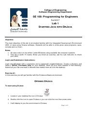 Lab1 SE 100 FALL 2017 Starting Java with Dr Java.pdf