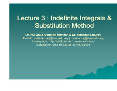 Lecture 2_Indefinite Integrals and Substitution Method.pdf