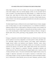 CULTURAL INFLUENCE ON INDIAN ENGLISH LITERATURE.docx
