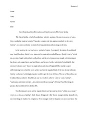 The Great Gatsby Cars Motif Analysis Paper