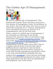 The Golden Age Of Management Is Now.docx