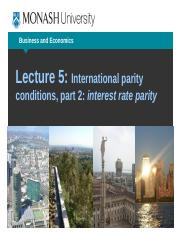 Lecture week 5 Interest rate parity.pptx