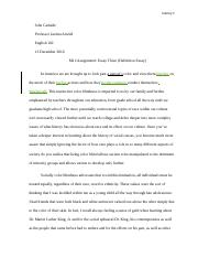 [GRADED; REVISED] M12 Assignment--Essay Three