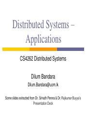 06 - Distributed Systems - Applications