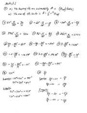 Homework 1 Solution Summer 2014 on Pre-Calculus