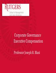 October 19th Executive Compensation