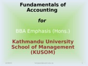 Accounting & Governance -1