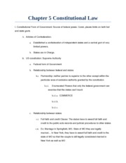LAW Ch 5: constitutional law